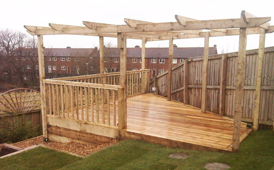 Garden decking from arundel landscapes for Garden decking designs uk